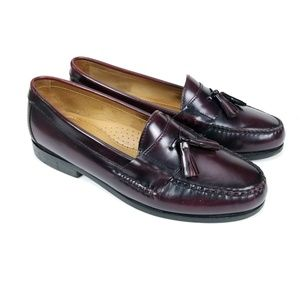 Johnston & Murphy Mens Leather Tassel Loafers 9 W